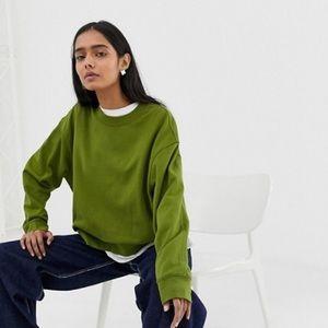 ASOS Weekday huge cropped sweatshirt